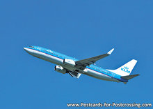 Ansichtkaart vliegtuig, airplane postcard,  KLM - Boeing 737-800, Flugzeug Postkarte