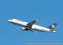 Vliegtuig ansichtkaart, airplane postcard, Flugzeug Postkarte Airbus A320-200 - Lufthansa