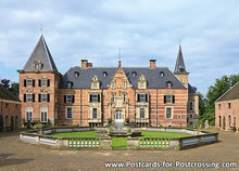 ansichtkaart kasteel Twickel in Delden, postcard castle Twickel, Postkarte Schloss Twickel