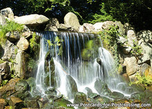 ansichtkaart waterval in park Sonsbeek in Arnhem