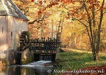 Herfstkaarten, Watermolen Hackfort herfst, postcard Autumn Water mill Hackfort, postkarte Herbst Wassermühle Hackfort
