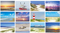 kaarten set strand en zee - Postcard set beach and sea - Postkarten Set Strand und Meer